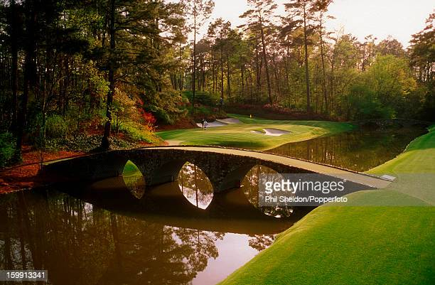 The 12th green on the Augusta National Golf Course home of the US Masters Golf Tournament in Georgia circa 1995