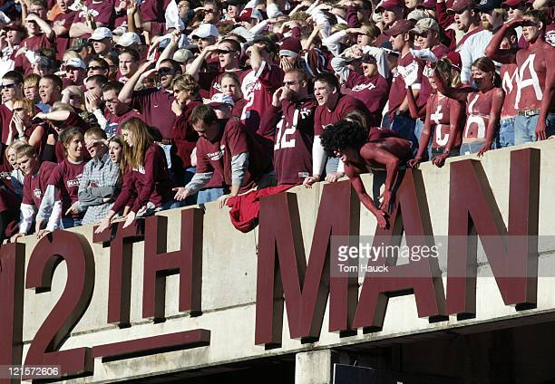 The 12th man at Texas AMThe Texas Longhorns defeat the Texas AM Aggies 4615 at Kyle Field in College Station Texas