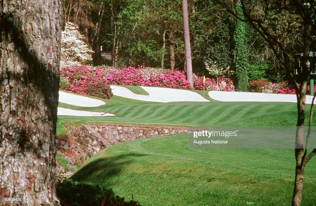 The 13th hole at Augusta National Golf Club in Augusta, Georgia.