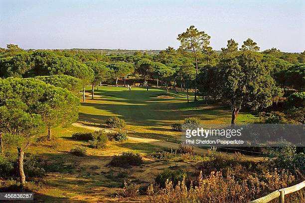 The 13th hole of the Vila Sol Golf Course on the Algarve in Portugal circa 1995