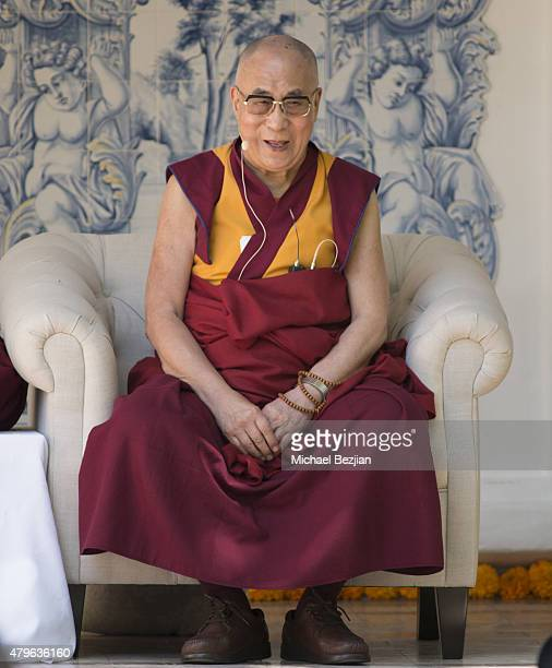 The 14th Dalai Lama attends Peak Mind Foundation Hosts A Talk With His Holiness The 14th Dalai Lama at Rancho Las Lomas on July 4 2015 in Silverado...