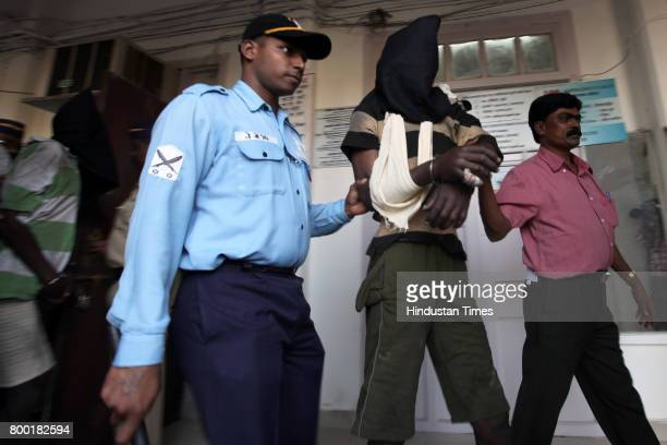 The 15 Somalian pirates were arrested by the Indian Navy at the coast of Lakshadweep Islands by INS Canskaro in the Arabian Sea handed over to Yellow...