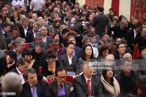 The 155th Charity Wine Auction at Hospices de Beaune on November 15 2015 in Beaune France The Hospices de Beaune charity wine auction is the oldest...