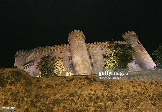 The 15th Century Castello Odescalchi where Tom Cruise and Katie Holmes are speculated to marry this weekend is pictured at night on November 16 2006...