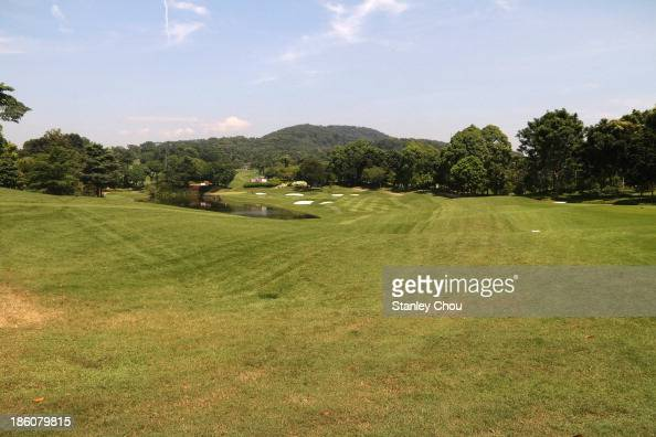 The 16th hole during the playoff during the CIMB Classic at Kuala Lumpur Golf Country Club on October 28 2013 in Kuala Lumpur Malaysia