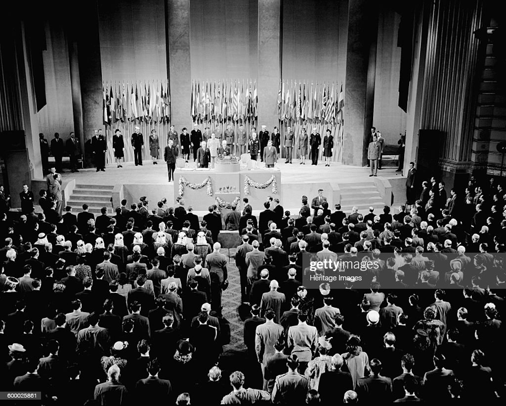 The 16th Plenary Assembly of the founding conference of the United Nations at the Opera House of San Francisco 1945 Found in the collection of UN New...
