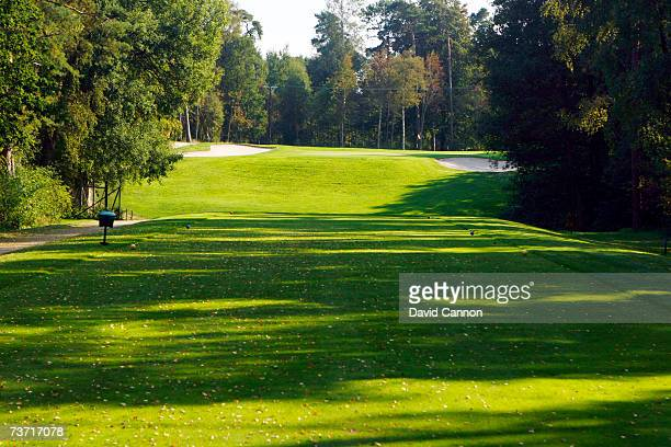 The 172 yards par 313th hole at the Halmstad Golfklubb venue for the 2007 Solheim Cup on September 17th in Halmstad Sweden