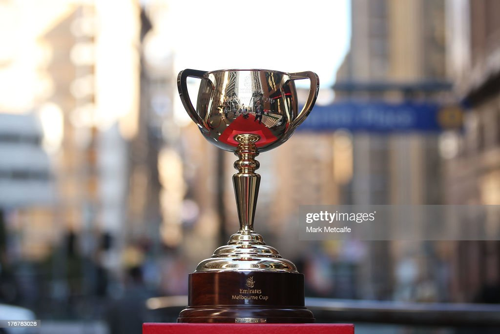 The $175,000.00 AUD Emirates Melbourne Cup is seen in Martin Place on August 19, 2013 in Sydney, Australia.