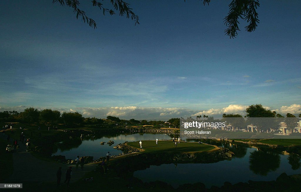 The 17th green is shown during the final round of PGA Tour Qualifying Tournament at PGA West December 6 2004 in La Quinta California