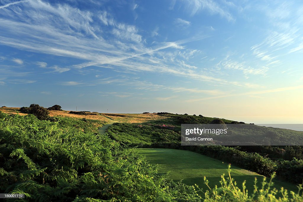 The 182 yards par 3 13th hole 'Windy Ridge' at The Royal Cromer Golf Club on July 25 in Cromer Norfolk England