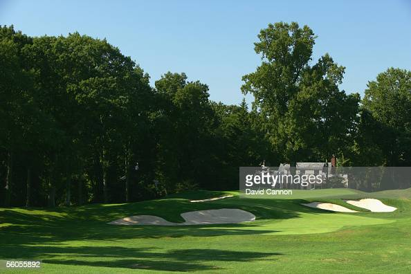The 190 yard par 3 10th hole 'Pulpit' on the West Course at Winged Foot Golf Club venue for the 2006 US Open on September 19 2005 in Mamaroneck New...