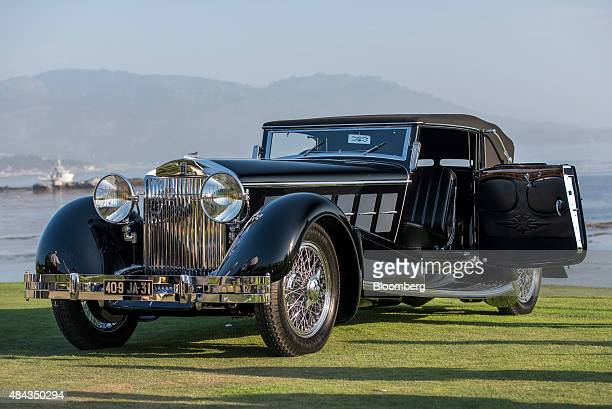 The 1924 Isotta Fraschini Tipo 8A vehicle is displayed after winning best of show during the 2015 Pebble Beach Concours d'Elegance in Pebble Beach...