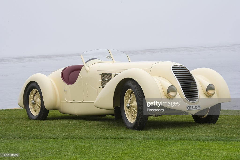 The 1934 Alfa 8C2300 Zagato Body is displayed for a photograph during the 2013 Pebble Beach Concours d' Elegance in Pebble Beach, California, U.S., on Sunday, Aug. 18, 2013. The annual event in its 63rd year raised $1.277 million U.S. dollars for charity and showcased 248 cars, 48 from abroad. Photographer: David Paul Morris/Bloomberg via Getty Images