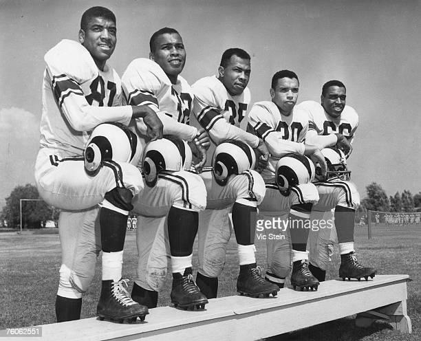 The 1953 Los Angeles Rams AfricanAmerican players defensive back/offensive end Dick ' Night Train ' Lane ' fullback Deacon ' Dan Towler fullback Paul...