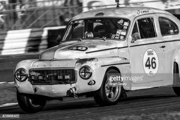 The 1962 Volvo PV544 of James Rogerson and James Smith races on the track during the Classic 24 at Daytona Historic Sportscar Race at Daytona...