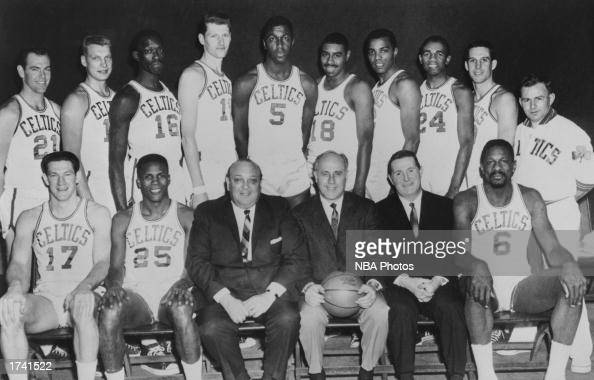 The 196566 NBA Champion Boston Celtics Seated John Havilcek KC Jones Marvin Kratter Chairman of the board Coach Red Auerbach President John J Waldron...