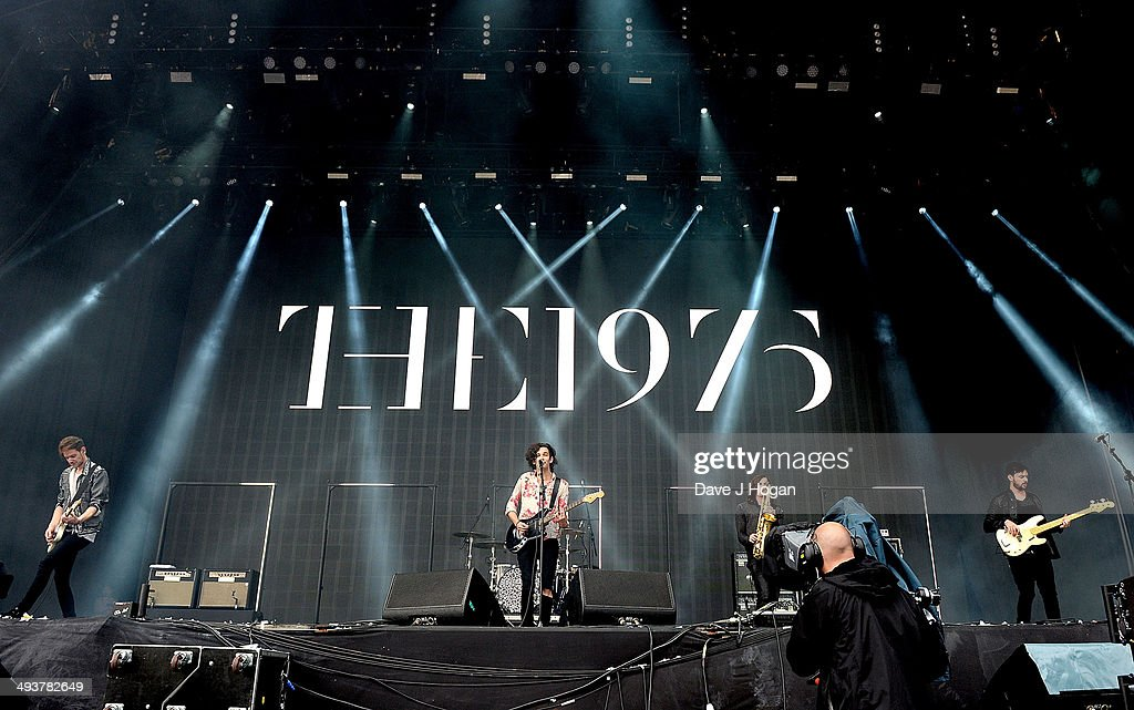 The 1975 (L-R) <a gi-track='captionPersonalityLinkClicked' href=/galleries/search?phrase=Adam+Hann&family=editorial&specificpeople=10172164 ng-click='$event.stopPropagation()'>Adam Hann</a>, Matt Healy and Ross MacDonald perform live at Radio 1's Big Weekend at Glasgow Green on May 25, 2014 in Glasgow, Scotland.