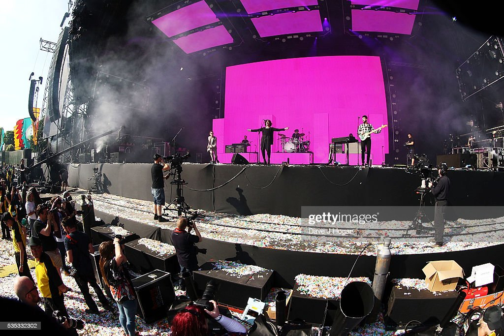 The 1975 performs during day 2 of BBC Radio 1's Big Weekend at Powderham Castle on May 29, 2016 in Exeter, England.
