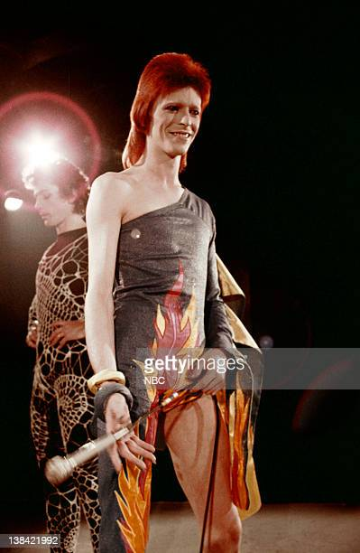 SPECIAL 'The 1980 Floor Show staring David Bowie' Episode 210 Aired 11/16/73 Pictured David Bowie during his last show as Ziggy Stardust filmed...