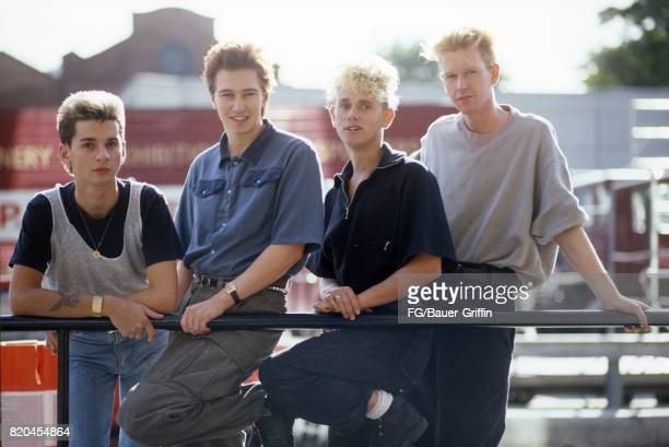 The 1982 lineup of the pop group Depeche Mode pose for a portrait on September 05 1982 in London England 170612F1