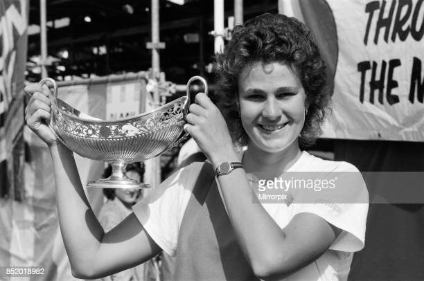 The 1986 Edgbaston Cup Tennis Tournament at the Edgbaston Priory Club pam Shriver winner of the Women's Singles final 15th June 1986