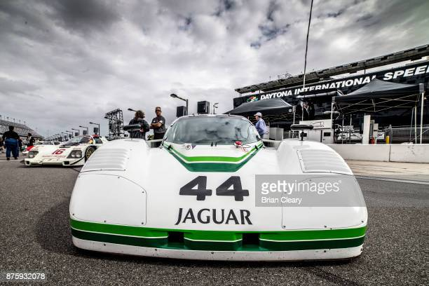 The 1988 Jaguar XJRS of Randall Smalley Robert Smalley and Tom Dyer is shown on the grid before the Classic 24 at Daytona Historic Sportscar Race at...