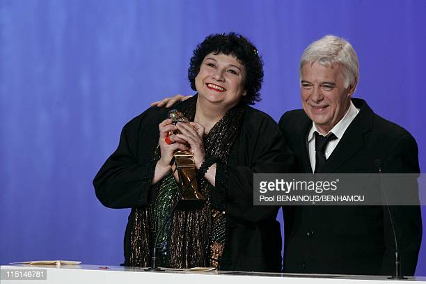 The 19th night of the Molieres at the Mogador Theatre in Paris France on May 09 2005 Christine Murillo best actress and Guy Bedos