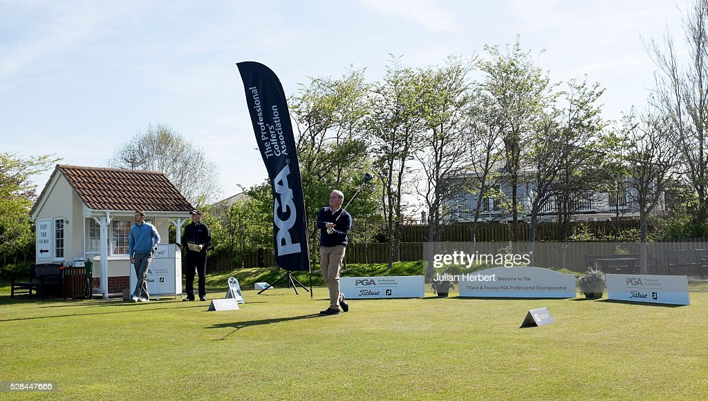 The 1st tee during the PGA Professional Championship - West Qualifier at Burnham And Berrow Golf Club Club on May 5, 2016, in Burnham-On-Sea, England.
