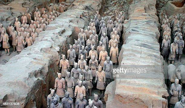The 2000yearold terracotta army now undergoing a twomillion yuan preservation project focusing on the effects of air pollution at the Qin Terracotta...