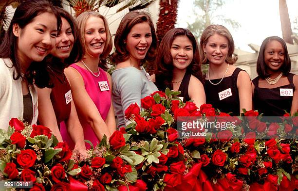 The 2001 Tournament of Roses Royal Court from left Nini Jiang Arcadia Arcadia High School Crystal Uribe Arcadia Arcadia High School Allison Ude San...