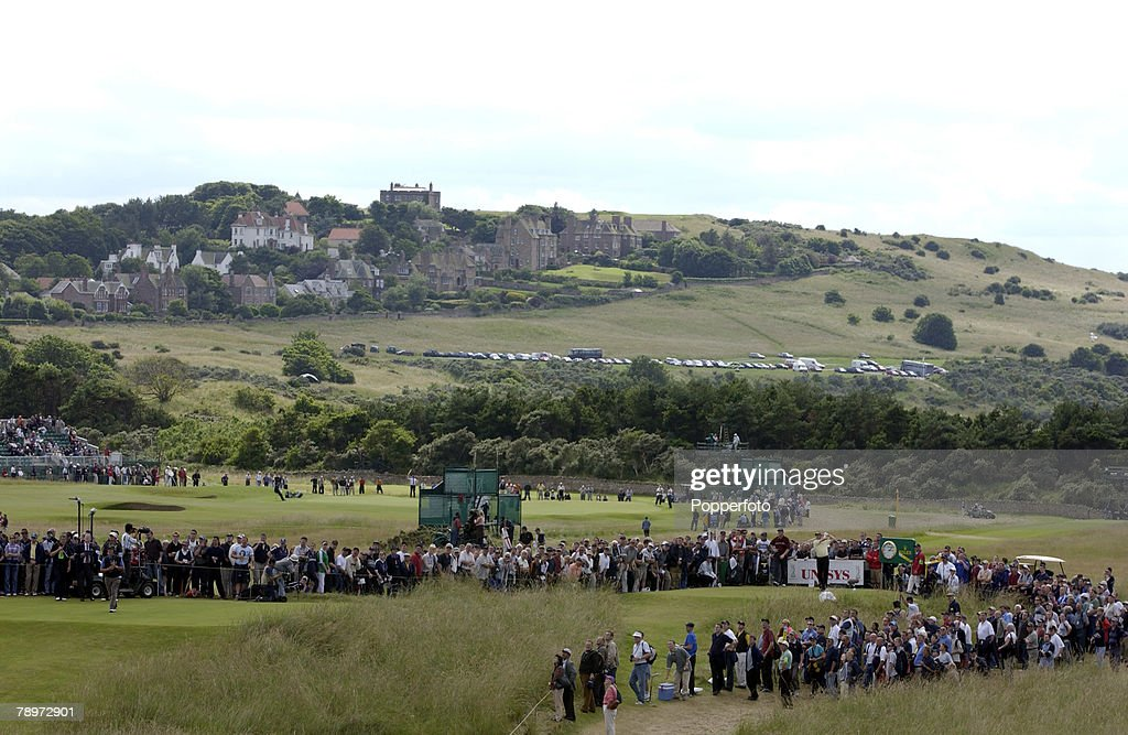 The 2002 British Open Golf Championship, Muirfield, Scotland, 21st July 2002, A general view over the Muirfield golf course showing the 4th tee,Credit: POPPERFOTO