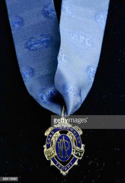 The 2005 AFL Brownlow Medal which is awarded to the best and fairest player is shown during the Official 2005 Premiership Cup and Medals HandOver at...