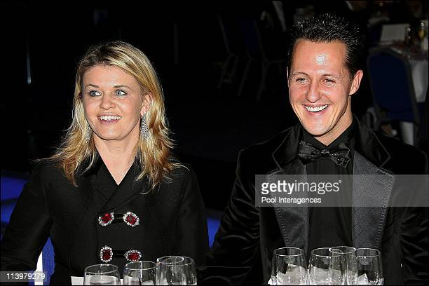 The 2006 FIA Gala held in Monaco city Monaco On December 08 2006Germany's Michael Schumacher and his wife Corinna arrive at the 2006 FIA Gala