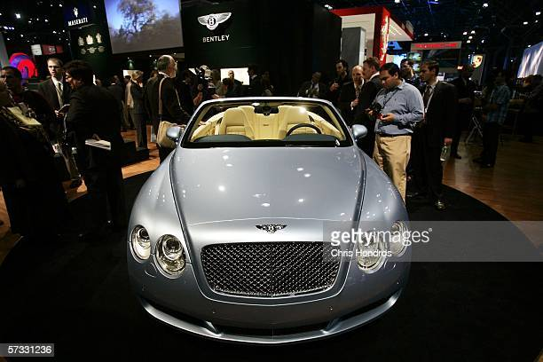 The 2007 Bentley Continental GTC convertible appears on April 12 2006 at the 2006 New York International Auto Show in New York City The show is open...