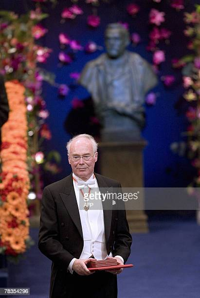 The 2007 Nobel Prize Winner in medicine Martin J Evans of UK is pictured after receiving his medal from the Swedish King Carl XVI Gustaf in the...