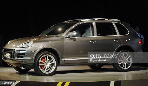 The 2008 Porsche Cayenne sport utility vehicle is displayed during the press preview at the North American International Auto show January 8 2007 in...