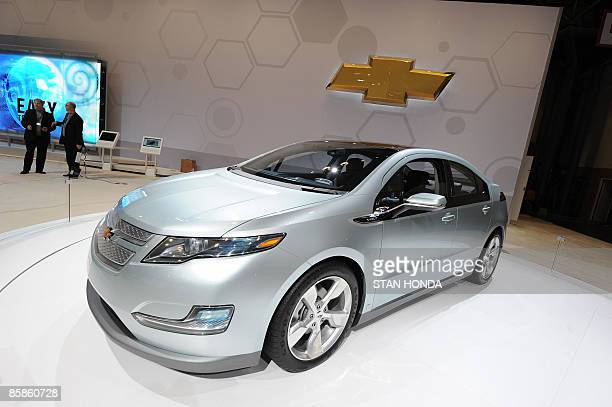 The 2009 Chevrolet Volt is seen at the New York International Auto Show April 8 2009 in New York AFP PHOTO/Stan Honda