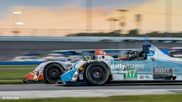 The 2009 Oreca FLM09 of Brad Baker races on the track during the Classic 24 at Daytona Historic Sportscar Race at Daytona International Speedway on...