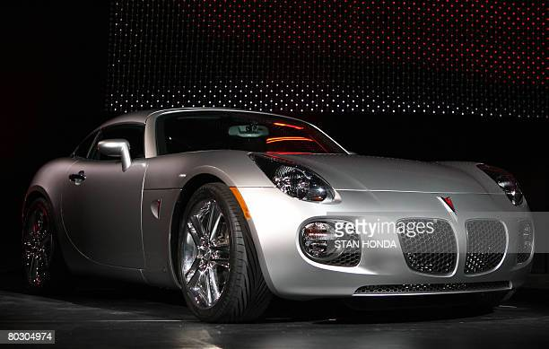 The 2009 Pontiac Solstice Coupe is unveiled on March 19 2008 at the New York International Auto Show AFP PHOTO/Stan HONDA