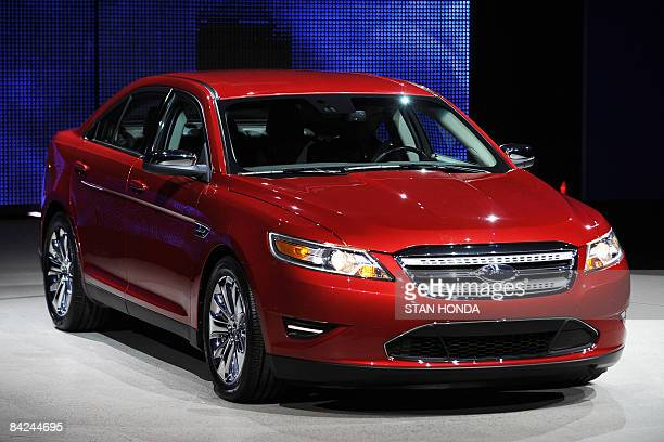 The 2010 Ford Taurus during a press preview at the North American International Auto Show January 11 2009 in Detroit Michigan AFP PHOTO/Stan HONDA