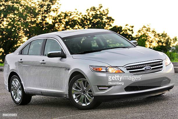 The 2010 Ford Taurus is photographed along the Blue Ridge Parkway near Asheville North Carolina US on Thursday June 18 2009 The Taurus is Ford Motor...