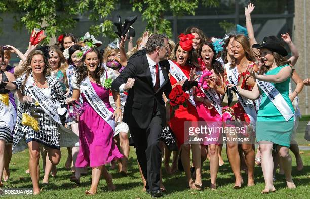 The 2010 Rose of Tralee Festival is launched at RTE Studios in Dublin with all the roses involved and TV presenter and compere on the evening Daithi...