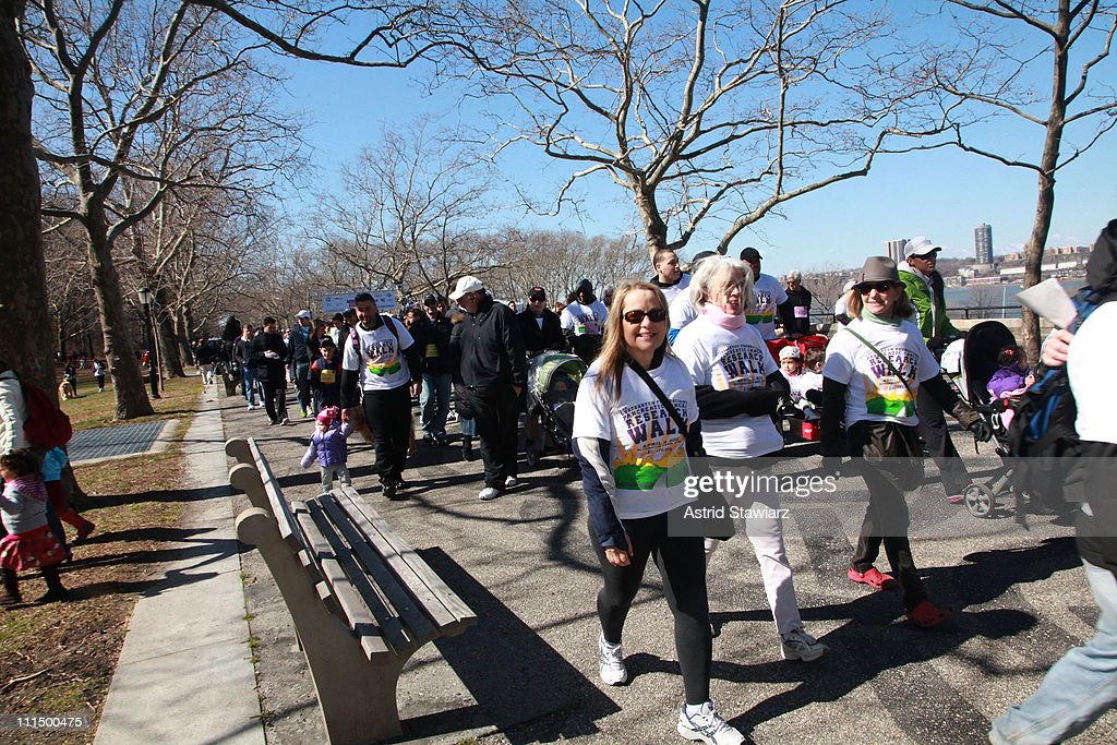 The 2011 Lustgarten Foundation's NY Pancreatic Cancer Research Walk is held at Riverside Park on April 3, 2011 in New York City.