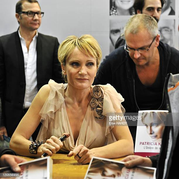 The 2011 Paris Book Fair from 18th to 21st March in Paris France French singer Patricia Kass dedicates her book