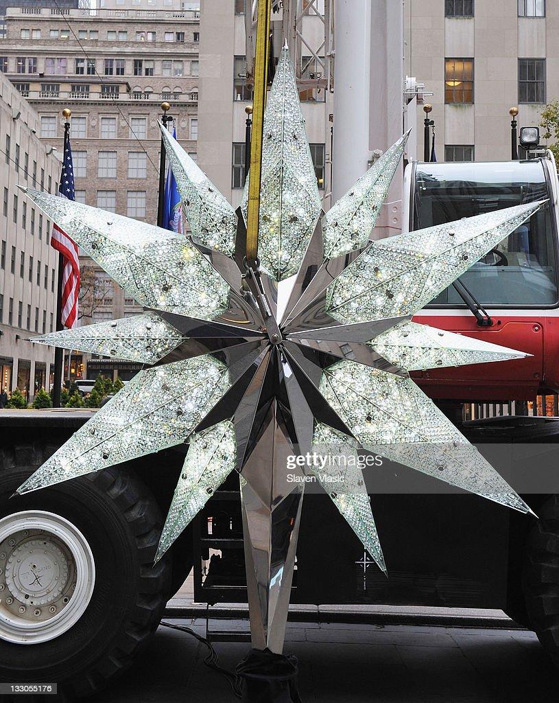 The 2011 Swarovski Star For The Rockefeller Center Christmas Tree In  Rockefeller Plaza On November 16