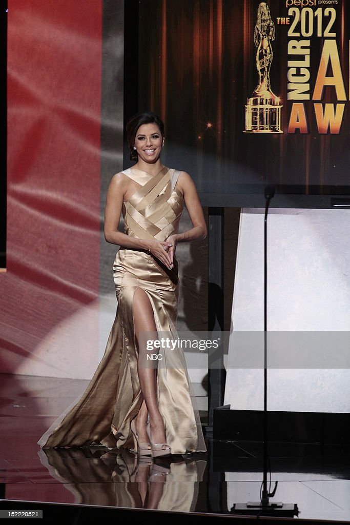 AWARDS -- The 2012 NCLR ALMA Awards 'Award Show' -- Pictured: <a gi-track='captionPersonalityLinkClicked' href=/galleries/search?phrase=Eva+Longoria&family=editorial&specificpeople=202082 ng-click='$event.stopPropagation()'>Eva Longoria</a> during the 2012 NCLR ALMA Awards held at the Pasadena Civic Auditorium on September 16, 2012 --
