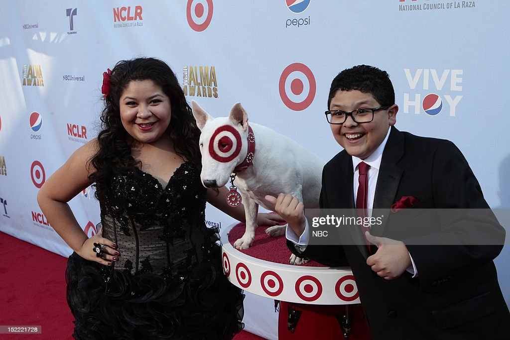 AWARDS -- The 2012 NCLR ALMA Awards 'Red Carpet' -- Pictured: (l-r) Raini Rodriguez and Rico Rodriguez on the red carpet at the 2012 NCLR ALMA Awards held at the Pasadena Civic Auditorium on September 16, 2012 --