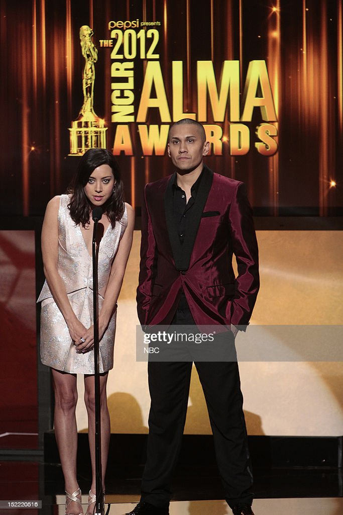 AWARDS -- The 2012 NCLR ALMA Awards 'Show' -- Pictured: (l-r) <a gi-track='captionPersonalityLinkClicked' href=/galleries/search?phrase=Aubrey+Plaza&family=editorial&specificpeople=5299268 ng-click='$event.stopPropagation()'>Aubrey Plaza</a>, Taboo at the 2012 NCLR ALMA Awards held at the Pasadena Civic Auditorium on September 16, 2012 --
