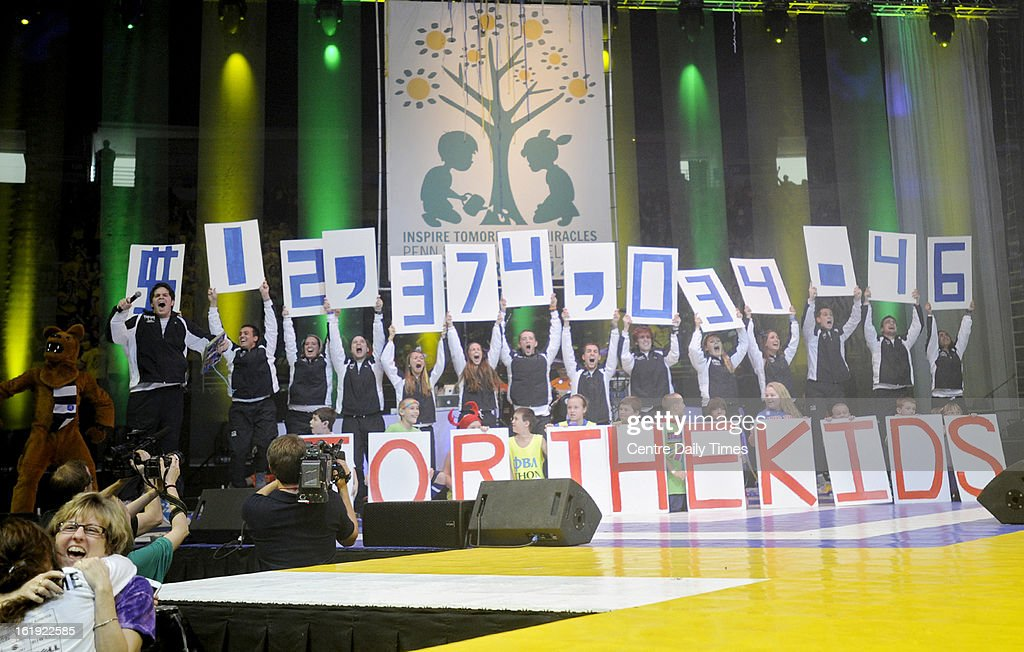 The 2013 Penn State IFC/Panhellenic Dance Marathon in State College, Pennsylvania, raised $12,374,034.46 for the Four Diamonds Fund.