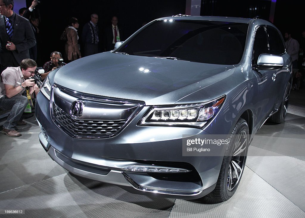 The 2014 Acura MDX Prototype is revealed at the 2013 North American International Auto Show media preview January 15, 2013 in Detroit, Michigan. Approximately 6000 members of the media from 68 countries are attending the show this year. The 2013 NAIAS opens to the public January 19th.